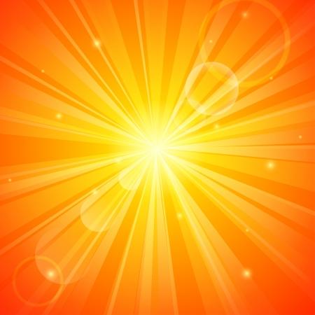 sunstroke: Abstract orange sunny background