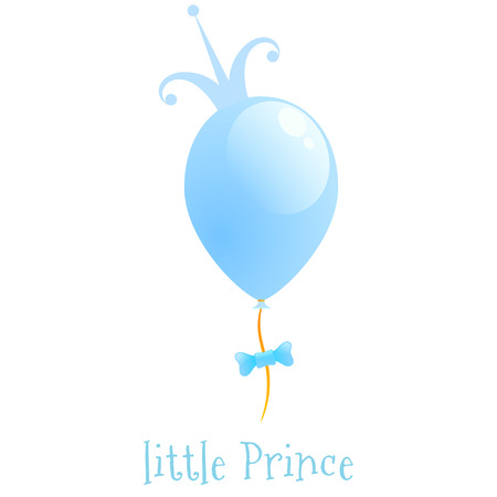 Balloon with a gold crown. Background Little Prince Vector