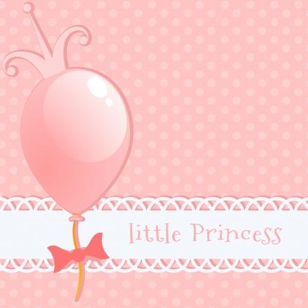 リトル プリンセスを背景します。  イラスト・ベクター素材