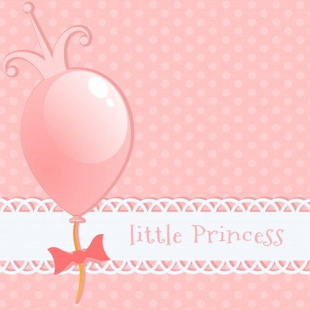 heart with crown: Background little princess Illustration