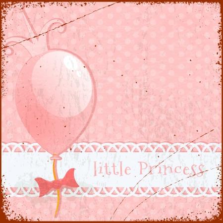 beauty queen: Retro Background Little princess