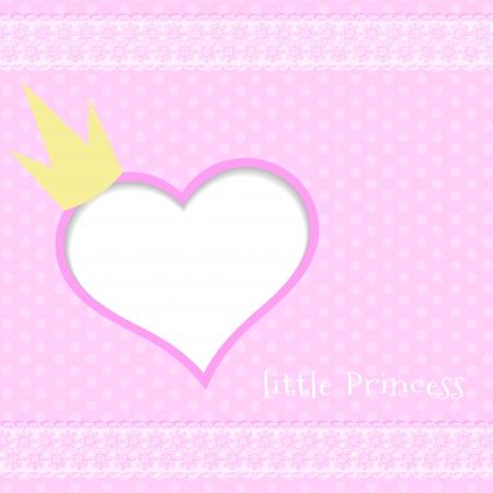 queens birthday:  Pink background little princess Illustration