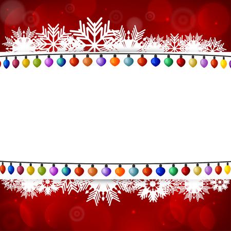 christmas bulbs: Abstract background with a Christmas lights Illustration