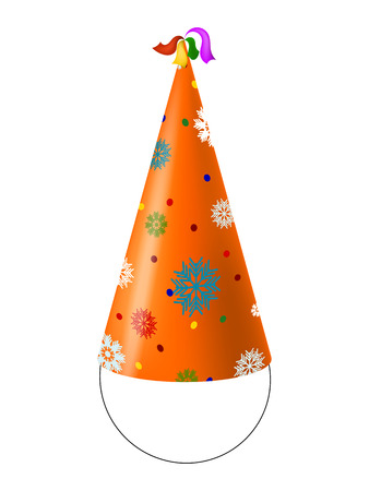 party hats: Party Hat with snowflakes