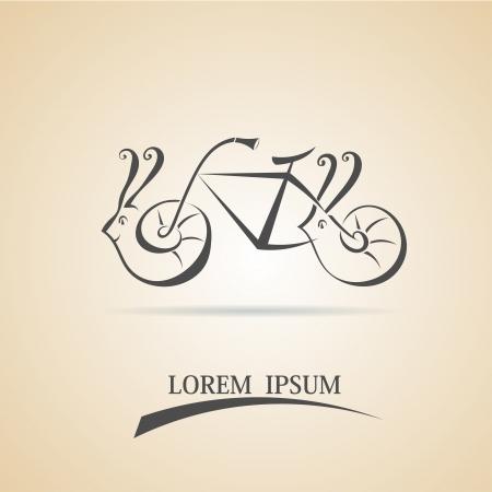 Illustration strange fantastic bike