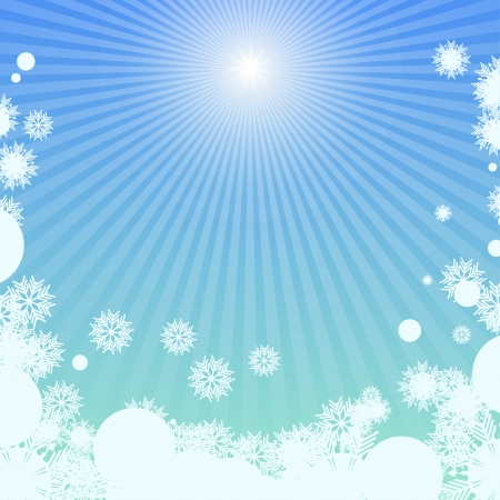 luminary: Winter background with sunlight Illustration