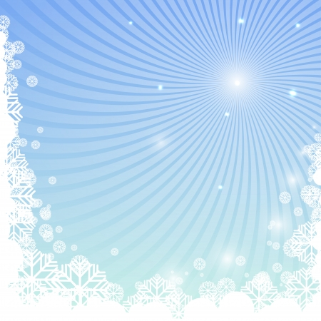 luminary: Winter background with snowflakes and curved beams