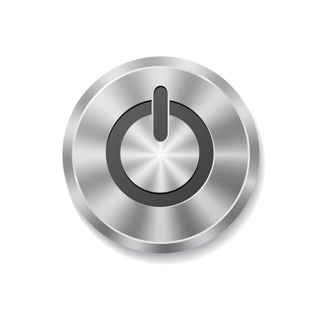 Metal round button on energy Stock Vector - 24169081