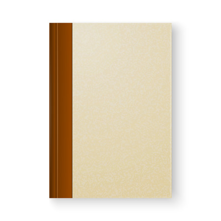 note book: Old book on white background