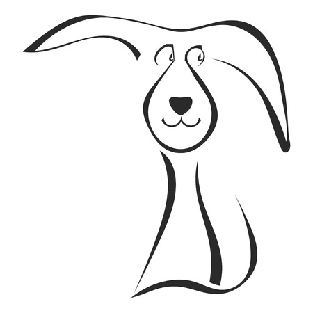 dog ears: Silhouette of puppy Illustration