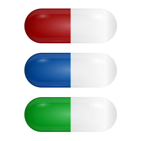 Set of colored pills Vector