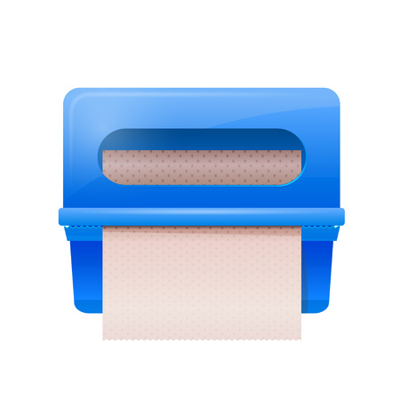 pimples: Blue bathroom wall mounted paper dispenser