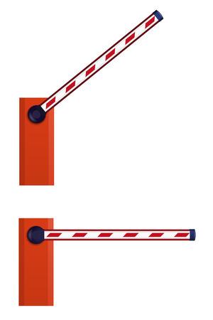 オレンジ色の自動バリア  イラスト・ベクター素材
