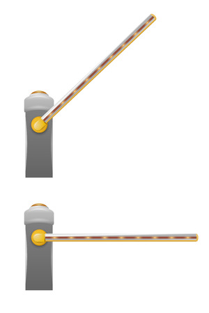 turnpike: Vector automatic barrier Illustration