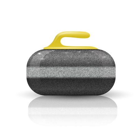 スポーツ ゲームをカーリングの石  イラスト・ベクター素材