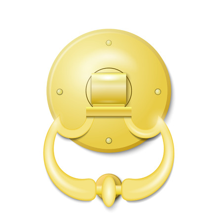 Golden door knocker Vector