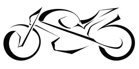 silueta moto: Negro silueta de una moto sobre un fondo blanco