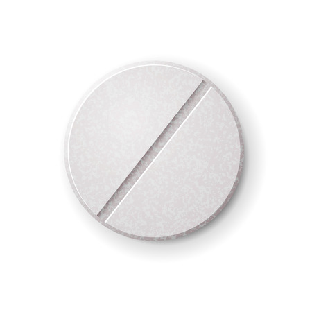 filler: Realistic round tablet with filler