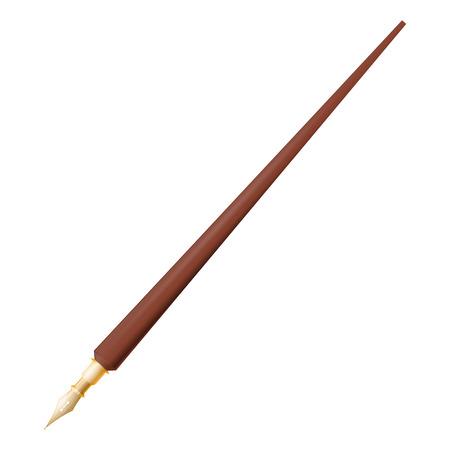 Fountain pen on white background Stock Vector - 25248036