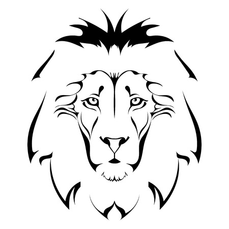 male animal: Lion head. Tattoo