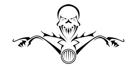 Tod Monster auf dem Motorrad