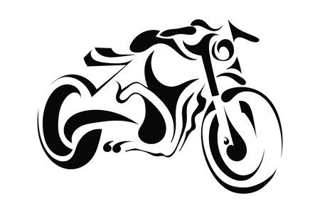 白い背景の上のバイク