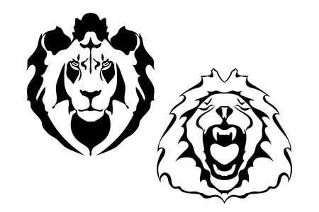 Line Drawing Lion Head : Lion head tattoo royalty free cliparts vectors and stock