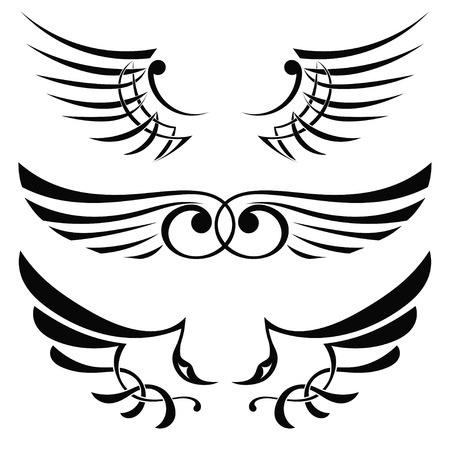 celtic mythology: Tattoo wings