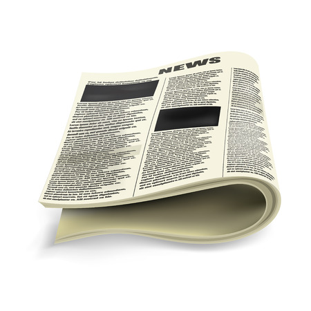 folded newspaper: Old folded newspaper Illustration