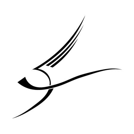 voador: Vetor abstrato p