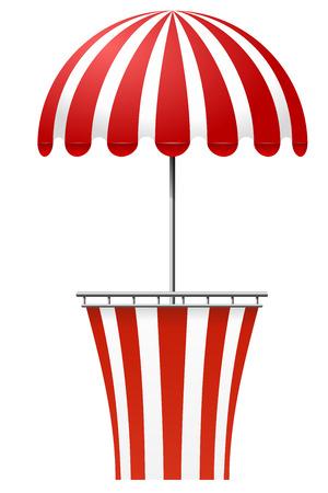 cirque: Cashier selling circus tickets Illustration