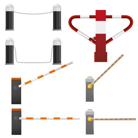 Set of road barriers Ilustracja