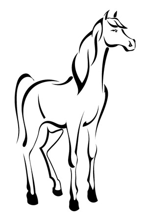 steed: Tattoo standing horse