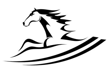 Horse tattoo symbol Vector