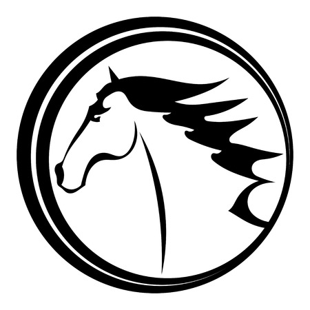 steed: Horse tattoo character in a circle