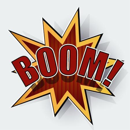Cartoon boom Stock Vector - 27374091