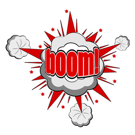 Vector Cartoon boom Stock Vector - 27374102