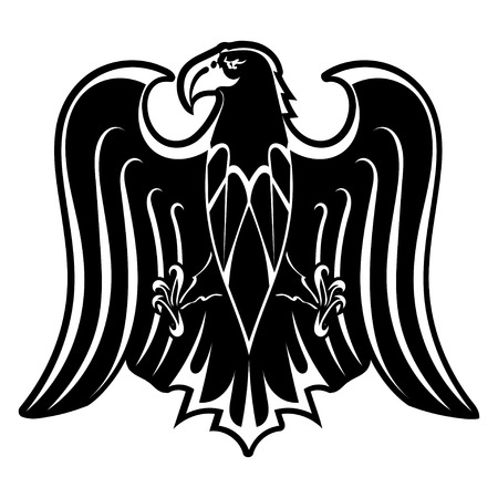 Black silhouette of eagle Vector