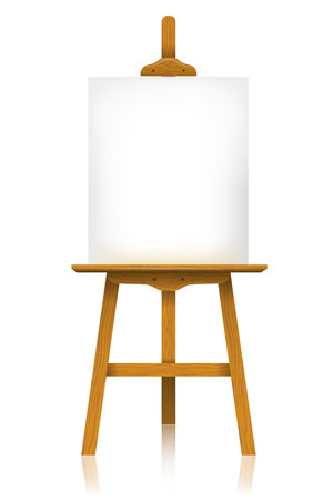 Easel with a blank canvas Vector