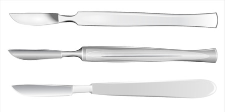 sterilized: Set of medical scalpels