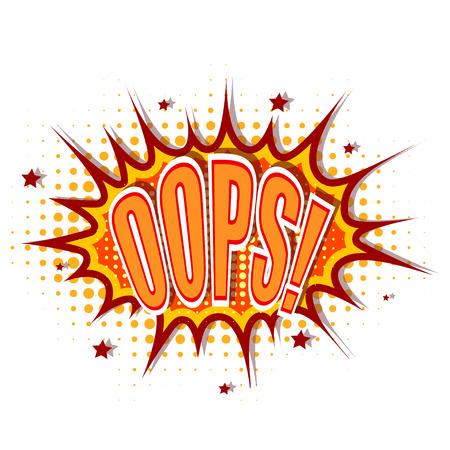 oups: Illustration de dessin anim� oops