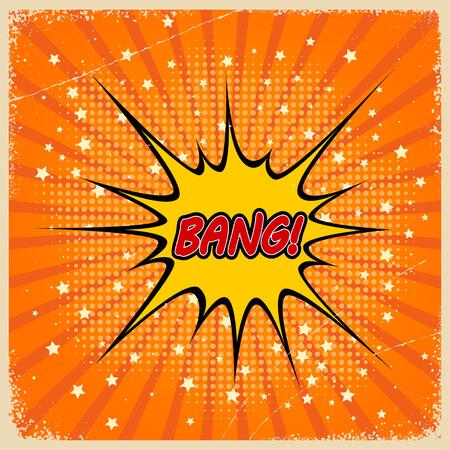 Retro background with Bang Comic Speech Bubble Stock Vector - 27710841