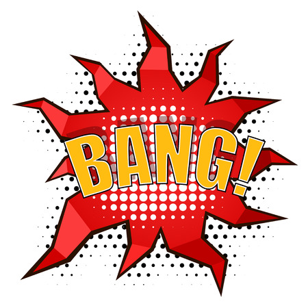 Cartoon bang! with rays Stock Vector - 27710576