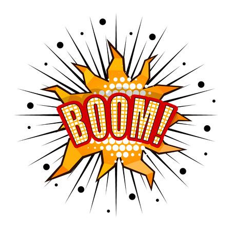 Cartoon boom with rays Stock Vector - 27710580