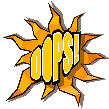 Cartoon oops with rays Stock Vector - 27710600