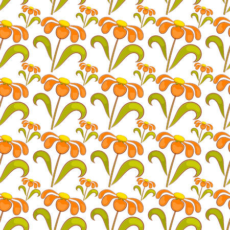 daisie: Seamless pattern con fiori di campo