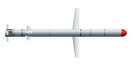 Ñruise missile on a white background Illustration