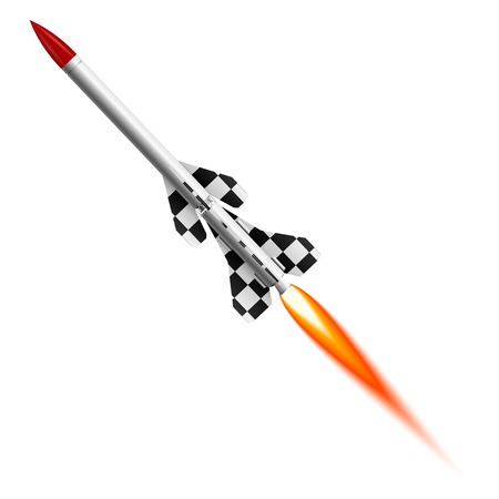 Flying two-stage rocket Stock Vector - 29070173