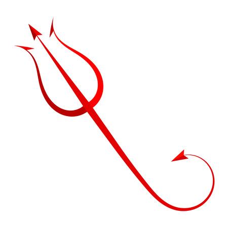 赤トライデント悪魔 写真素材 - 29070183