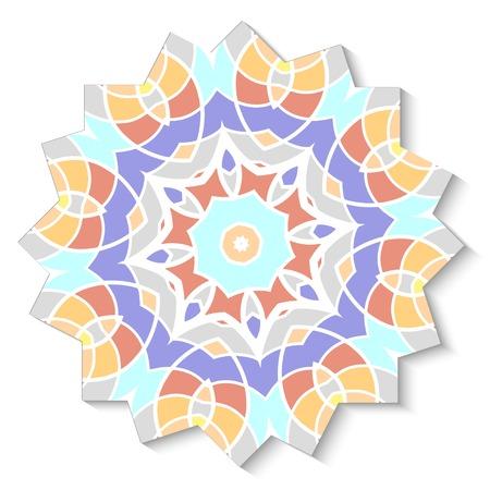 ancient civilization: Abstract mosaic design element